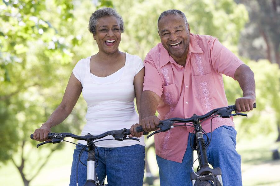 bigstock Senior Couple On Bicycles